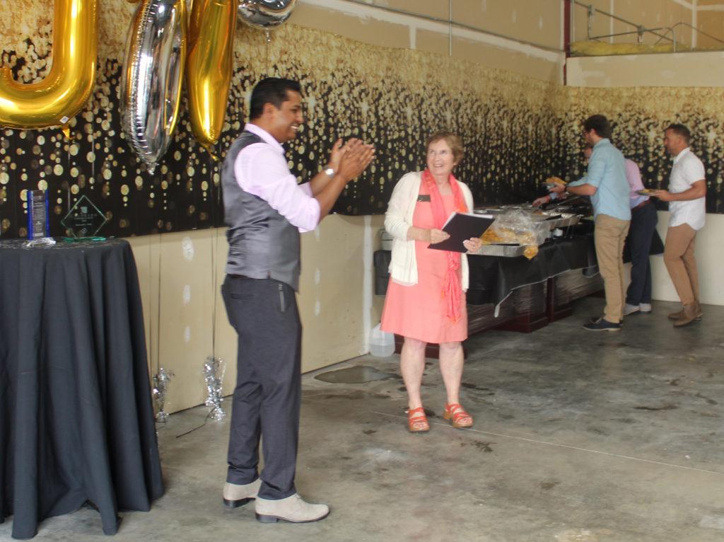 Navin Nageli accepting Colorado Companies To Watch award.