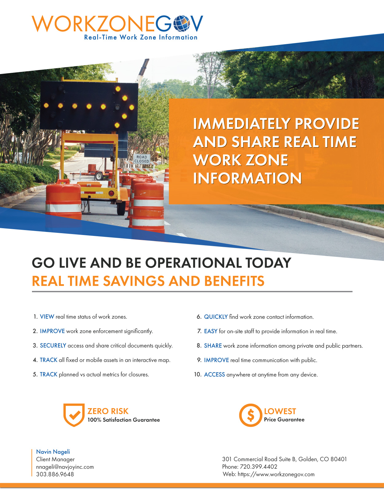 Real Time Work Zone Management Tool