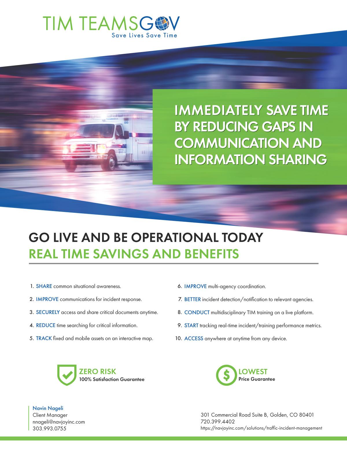 flyer for traffic incident management app