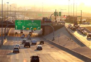 Interstate signs in Denver