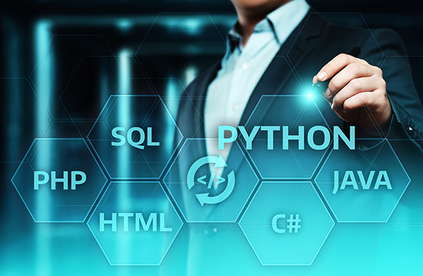 Programming language coding concept
