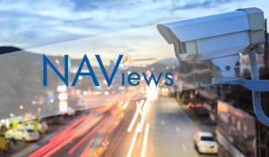 Traffic camera pointing at NAViews logo