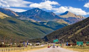 Interstate 70 West at Copper Mountain in Colorado